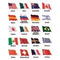 世界の国旗ステッカー
