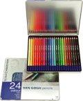 ヴァンゴッホ色鉛筆24色セット(メタルケース入り)